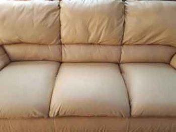 ספה אחרי טיפול מקצועי